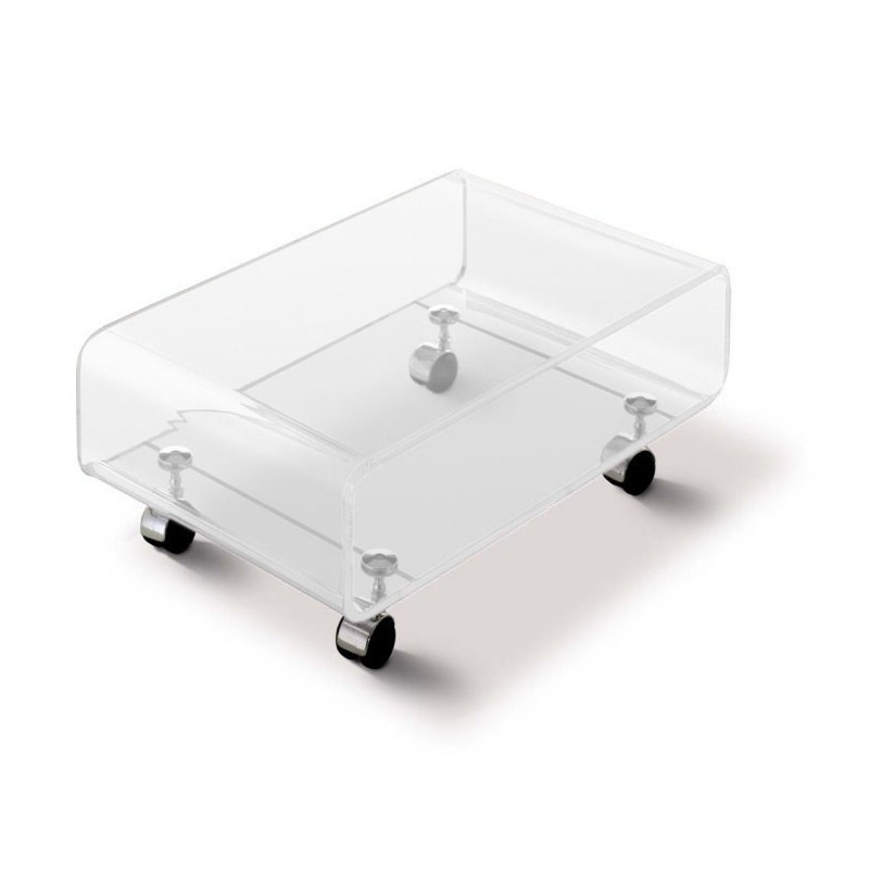 Table basse transparente skate - Table de salon plexiglass ...