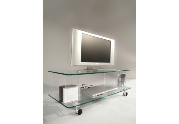 meubles tv transparents et hi fi design bas et hauts mobilier plexiglas david lange. Black Bedroom Furniture Sets. Home Design Ideas