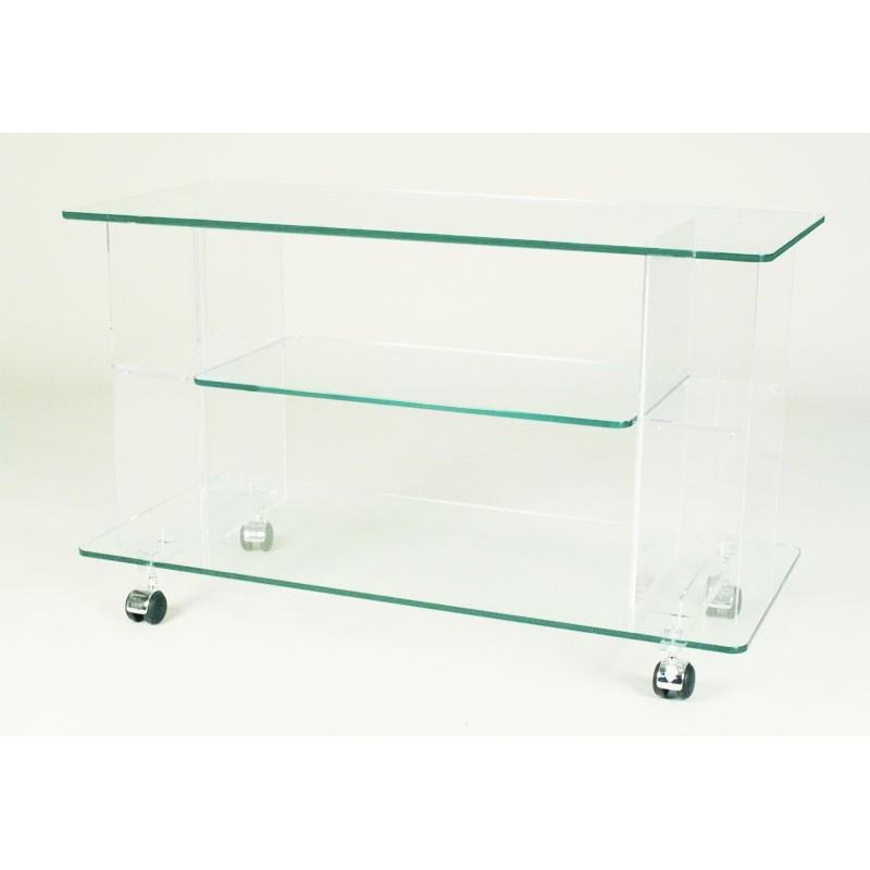 Meuble tv design LESTRA -> Meuble Tv Plexiglas Roulettes