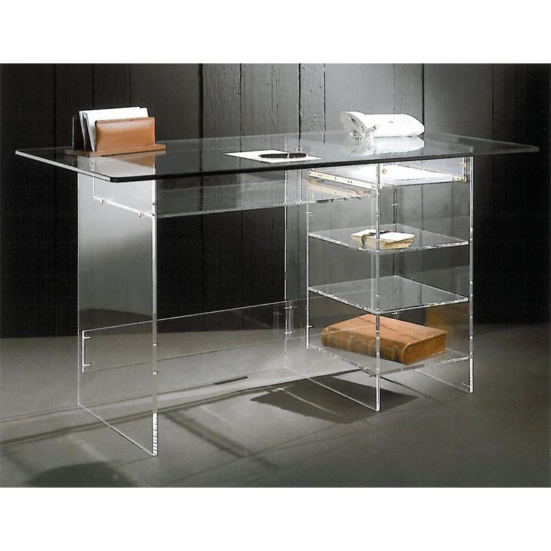 bureau transparent plexiglas super presto. Black Bedroom Furniture Sets. Home Design Ideas