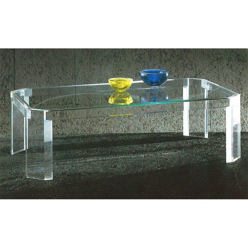 Table basse transparente athena i for Table de nuit transparente