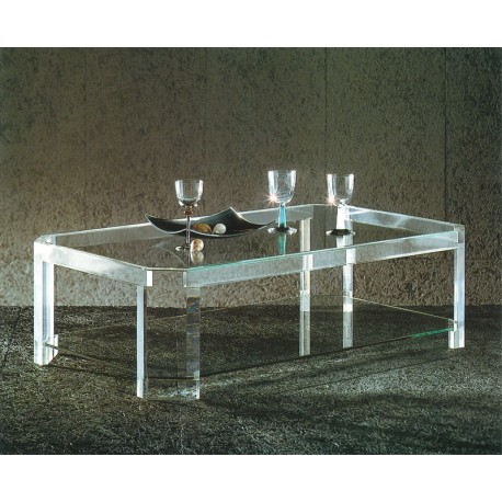 Table basse transparente athena ii - Table basse en plexi ...