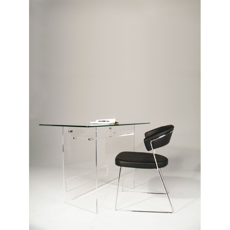 bureau en plexiglas et verre piccolo. Black Bedroom Furniture Sets. Home Design Ideas