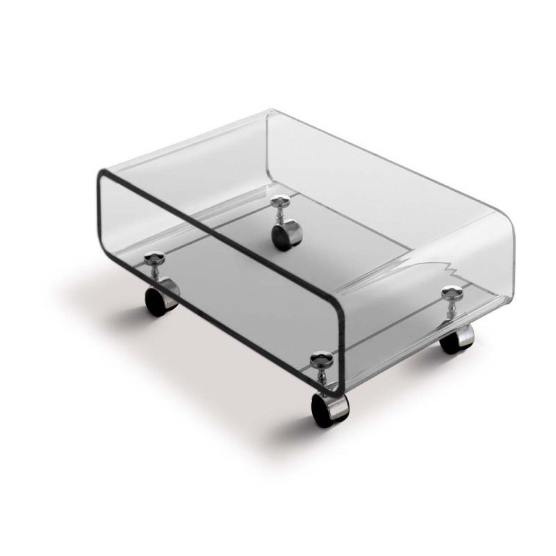 Table basse transparente skate - Table basse en plexi ...