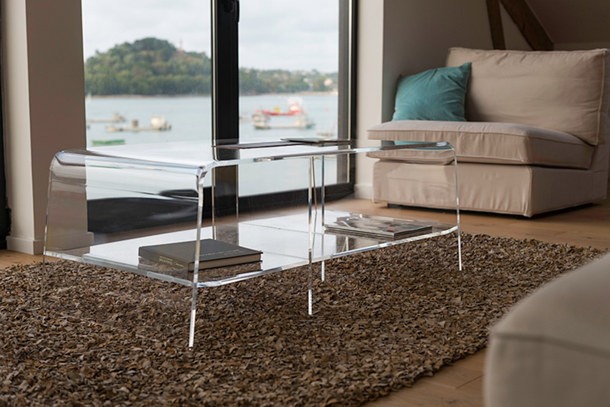 Table Basse Transparente Design Pour Le Salon Mobilier  # Table Basse Transparente