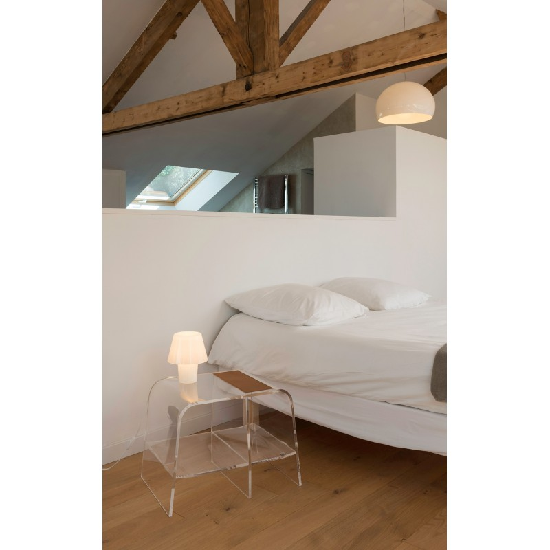 table de nuit design et transparente chevet pure par jacky le faucheur et david lange. Black Bedroom Furniture Sets. Home Design Ideas