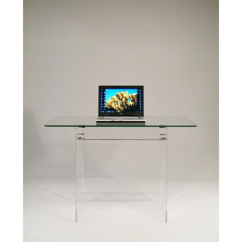 Meubles en verre ou plexiglas gallery of meuble tv en for Meuble tv mikado