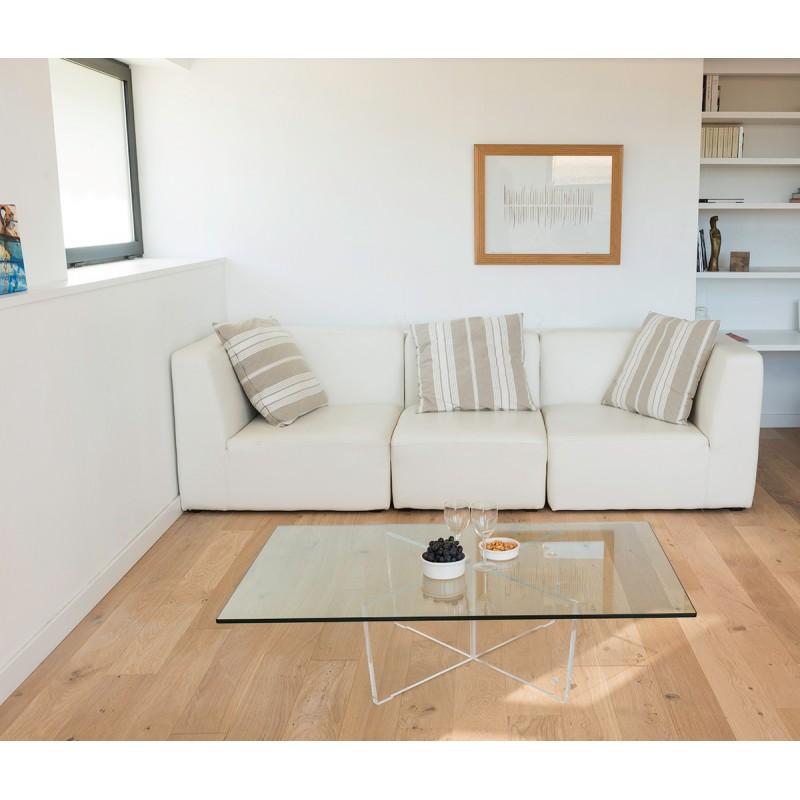 table basse transparente cristal rectangle. Black Bedroom Furniture Sets. Home Design Ideas