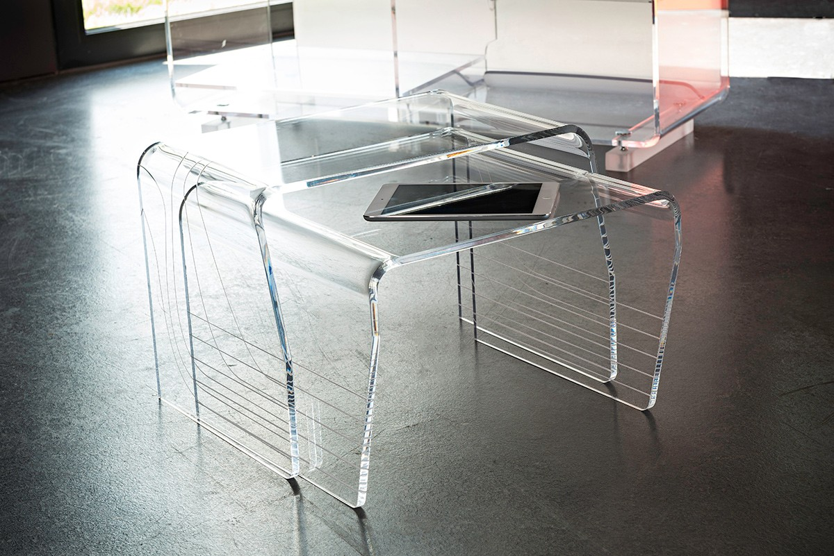 Table Basse Transparente Carr E Gemma # Table Basse Transparente