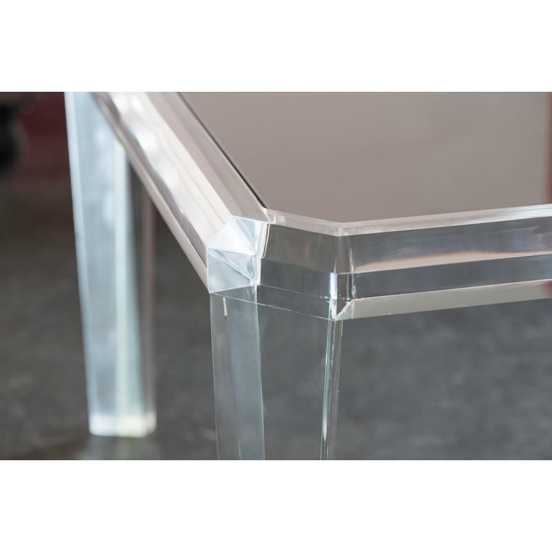 Table basse transparente carr e gemma - Table de nuit transparente ...