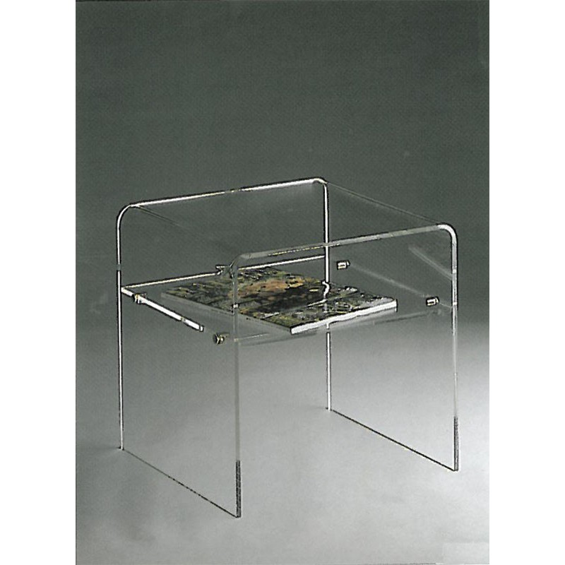 Tables de chevet plexiglas table de lit for Meuble d appoint salon