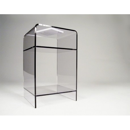 Meuble plexiglas transparent d appoint carlo for Petit meuble en verre