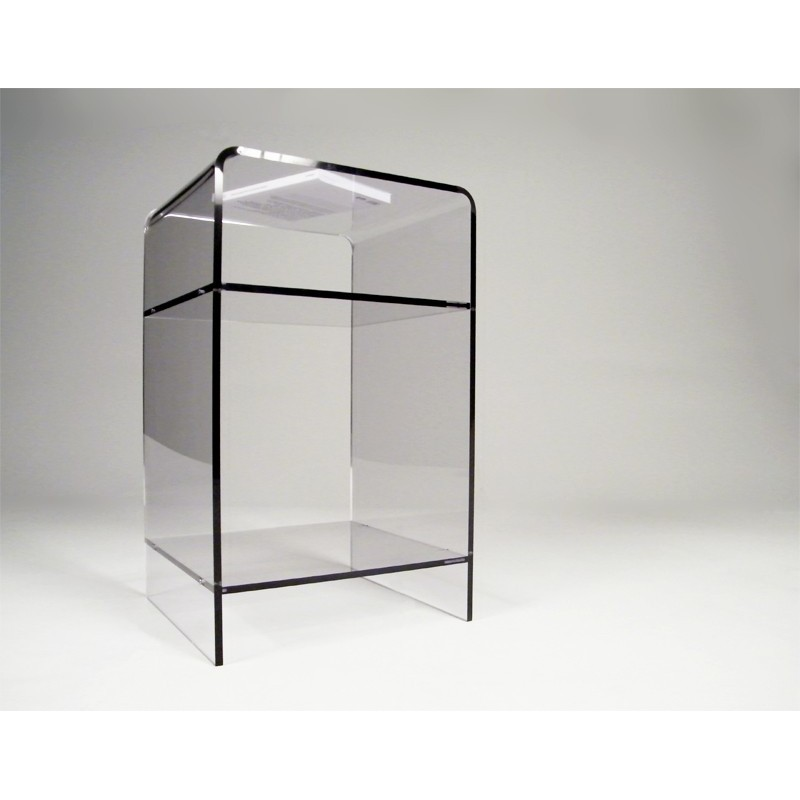 Meuble plexiglas transparent d appoint carlo for Meuble d appoint salon
