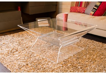Table basse transparente design pour le salon mobilier - Table basse carree pas cher ...