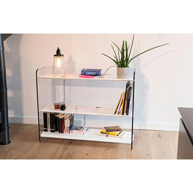 Meuble de rangement 3 tag res pour salon bureau ou entr e les designers optimistes - Les trois suisses meubles ...