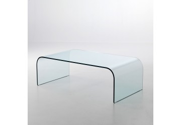 Tables basses transparentes design de salon en plexiglas - Protection de table transparente ...