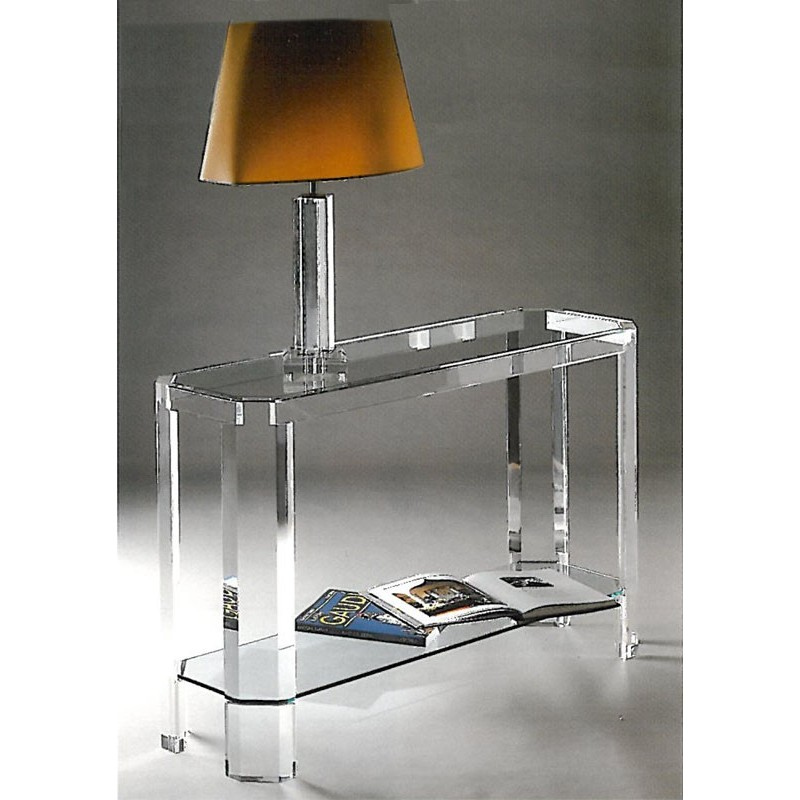 console transparente athena un meuble design en plexiglas. Black Bedroom Furniture Sets. Home Design Ideas