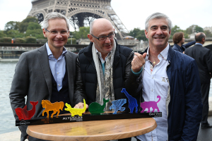 T. Le Hénaff, G. Weil et B. Garin (directeur industriel DL)