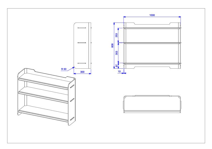 meuble de rangement 3 tag res pour salon bureau ou entr e les designers optimistes. Black Bedroom Furniture Sets. Home Design Ideas