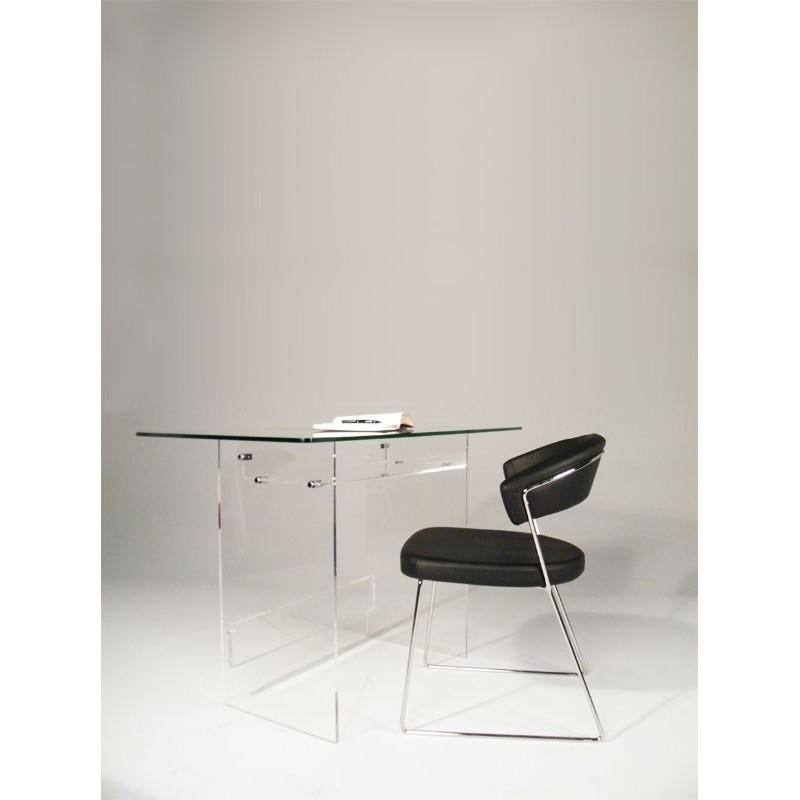 bureau en plexiglas et verre piccolo. Black Bedroom Furniture Sets. Home Design Ideas