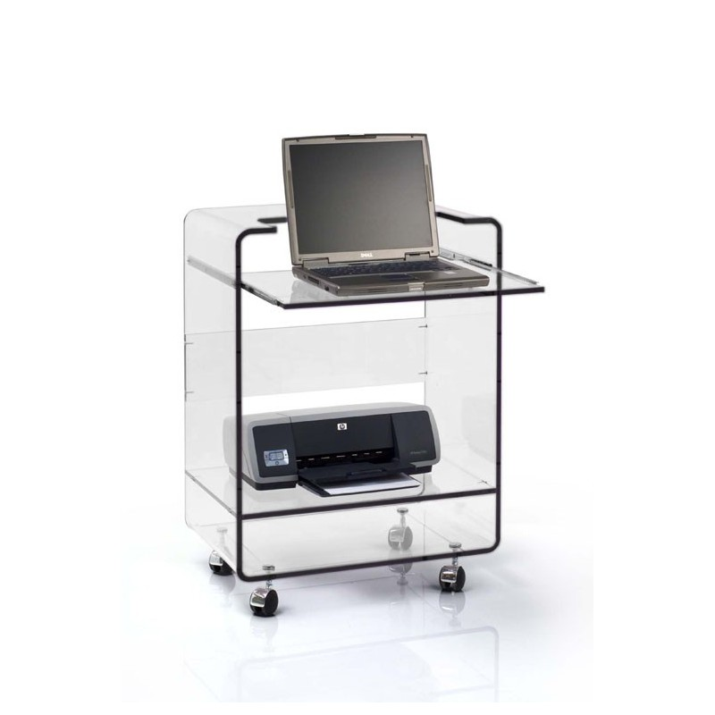 Meuble plexiglas transparent pc ioda bugg - Meuble ordi design ...