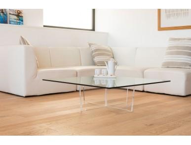 Table basse transparente Cristal carrée