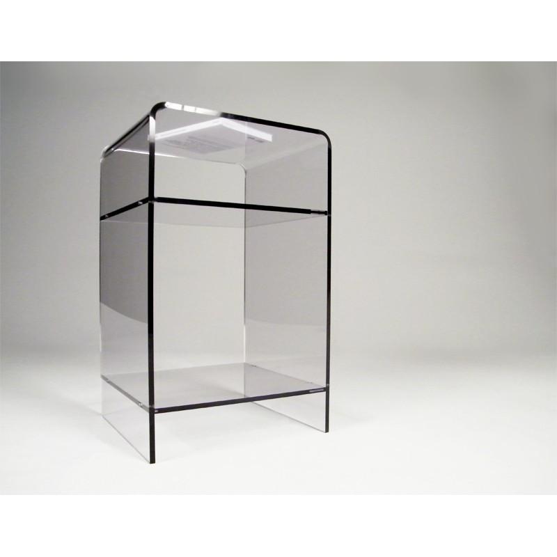 Meuble plexiglas transparent d appoint carlo - Meubles en plexiglas ...