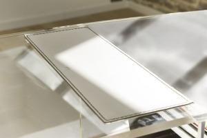 Cuir et PMMA transparent - Collection Pure