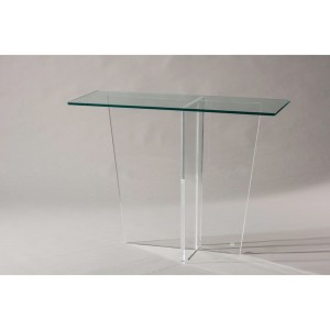 console meuble transparent