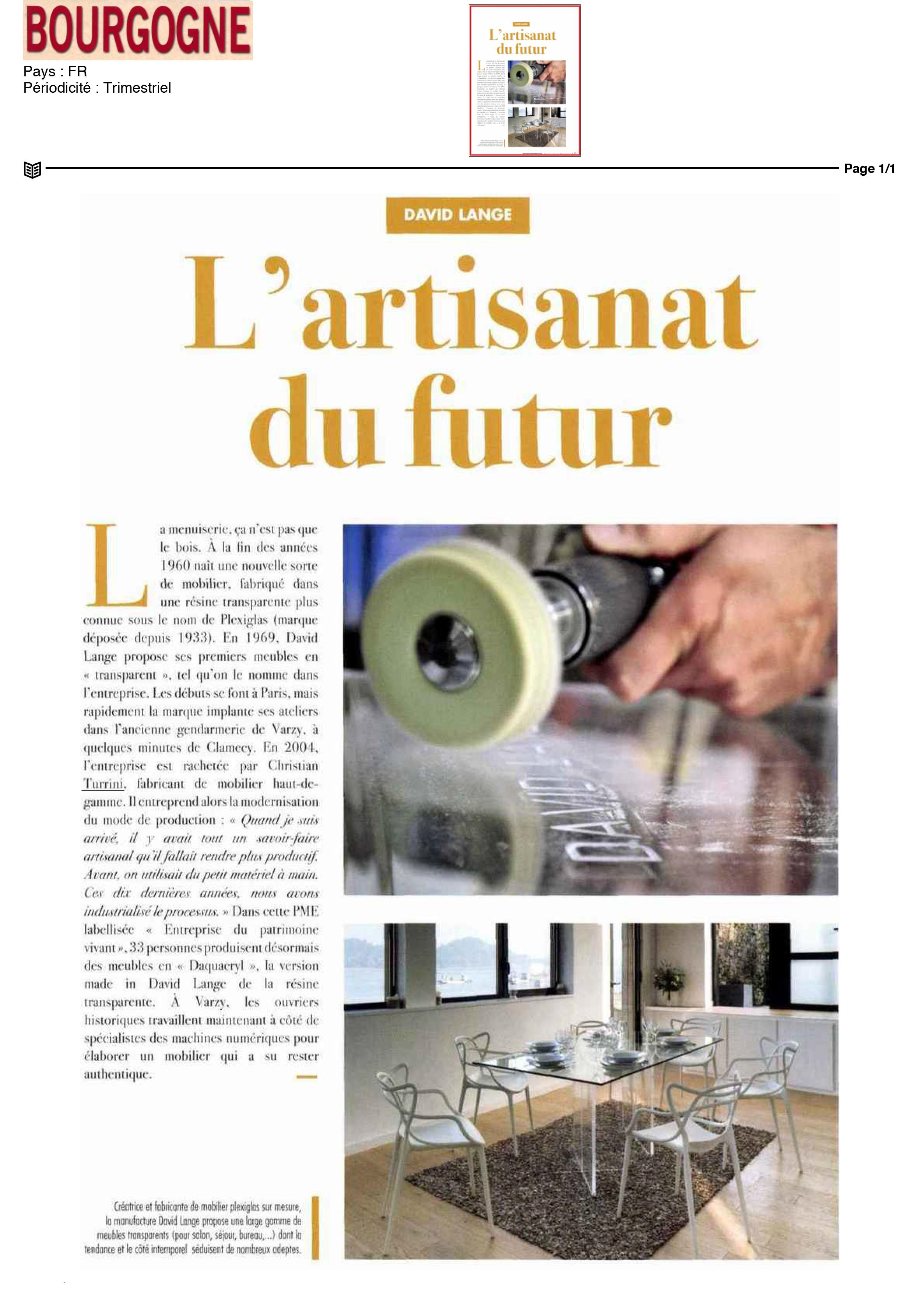 L'artisanat du futur
