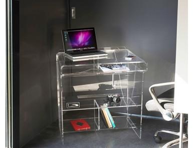 Meubles transparents de bureau design et fonctionnel plexi et verre david lange - Meuble informatique en verre ...